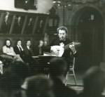 Ragossnig-Konzert beim Bach-Fest 1981 in Leipzig (in diesem Rathaussaal hatte Bach seinen Vertrag als Thomaskantor unterzeichnet)