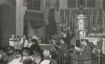 Die Schola Antiqua mit Eduard Melkus, Gustav Leonhard, Josef Mertin und Scheits späterer Ehefrau Luise Schreiber (1954)